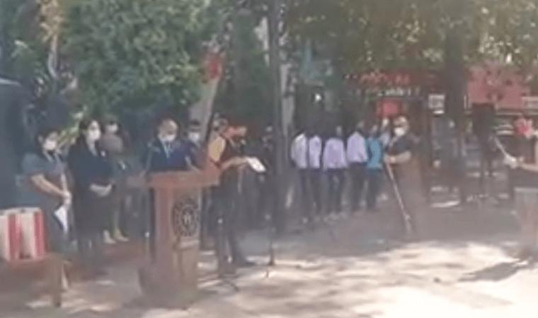 Erdek'te Atatürk'ün Gençliğe Hitabesi'ne sansür
