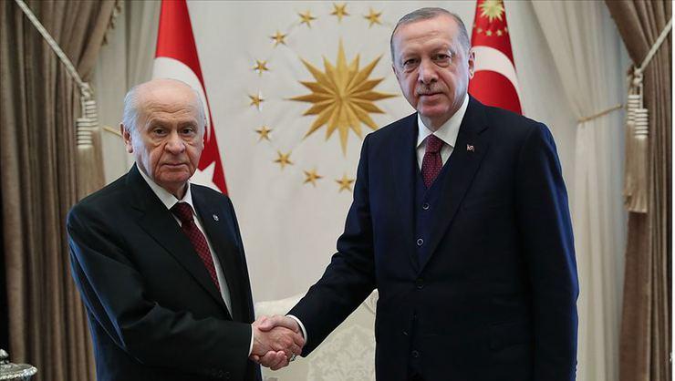Erdoğan-Bahçeli görüşmesi başladı