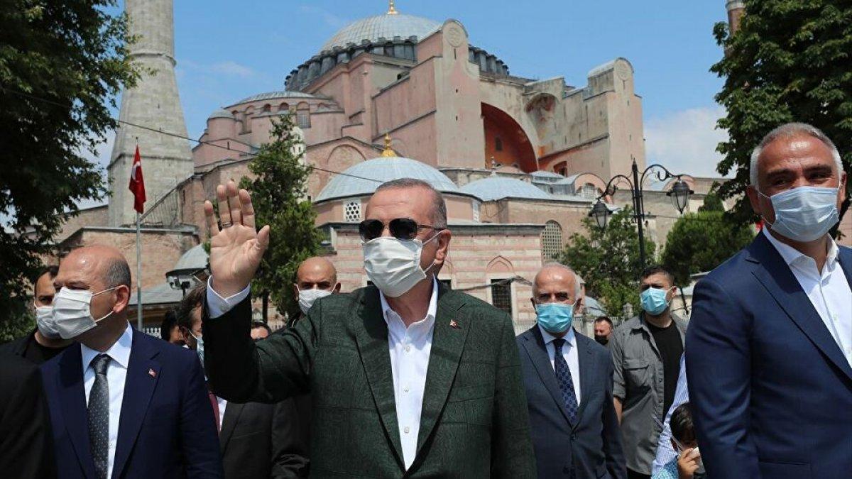 Erdoğan cuma namazı için Ayasofya'da