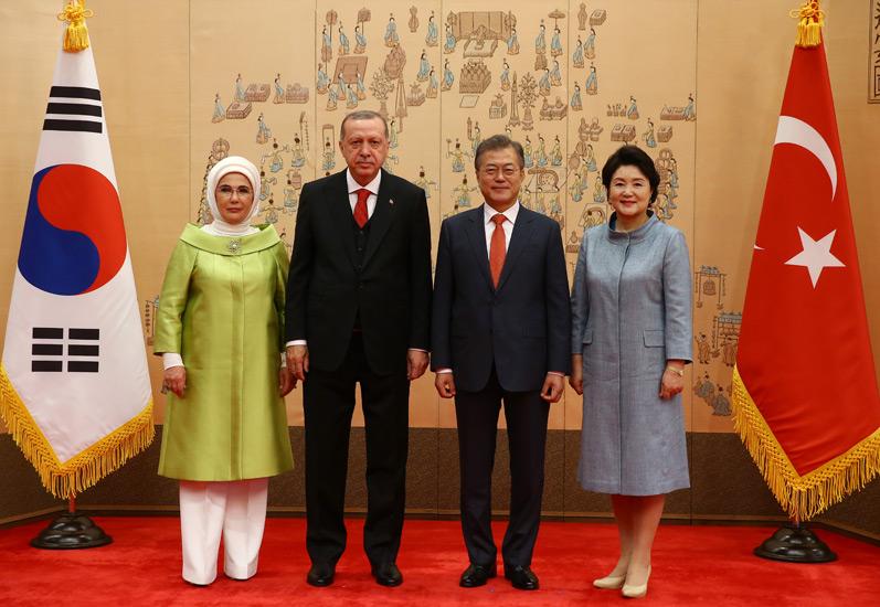 Erdoğan, Güney Kore Devlet Başkanı ile görüştü