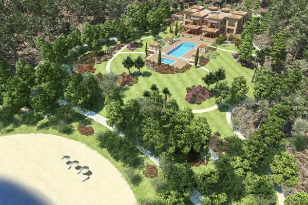 Erdoğan'ın Marmaris'te inşa edilen yazlık sarayının mimari görselleri paylaşıldı