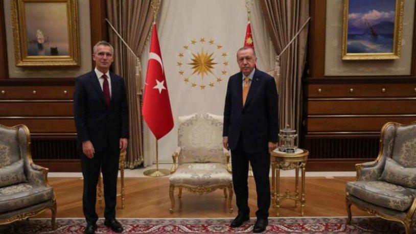 Erdoğan NATO Genel Sekreteri Stoltenberg ile görüştü