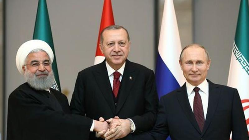 Erdoğan, Putin ve Ruhani'den üçlü zirve sonrası ortak açıklama