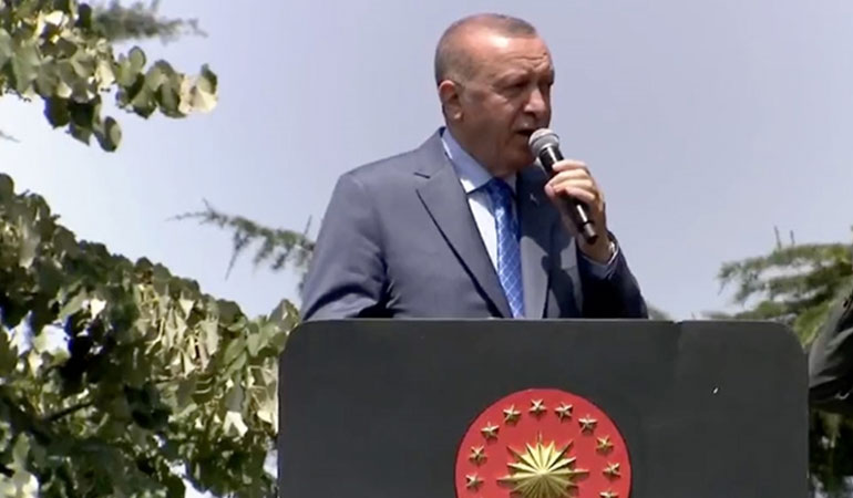 Erdoğan Tank Palet Fabrikasını ziyaret etti: Tank palet fabrikası devletin malıdır