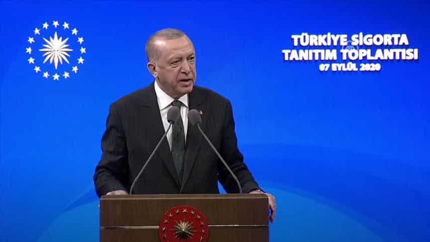 Erdoğan: Ülkemizin en büyük sigorta ve emeklilik şirketini tesis ediyoruz