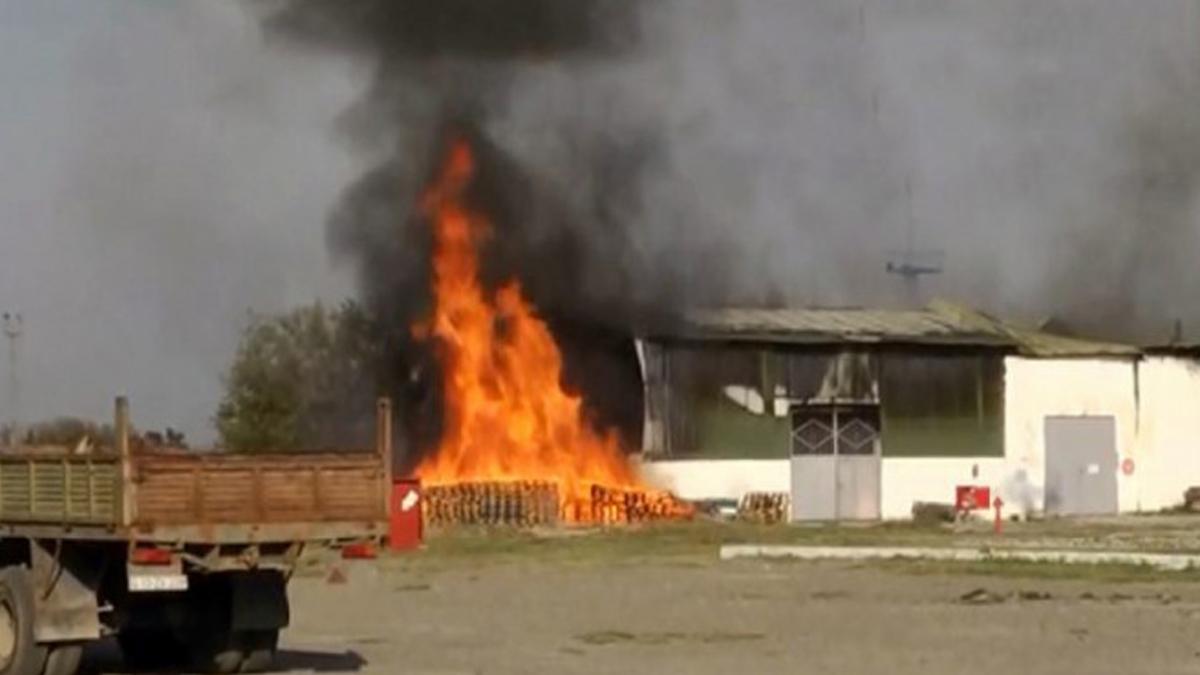 Ermenistan, Azerbaycan Terter'de bir fabrikayı vurdu