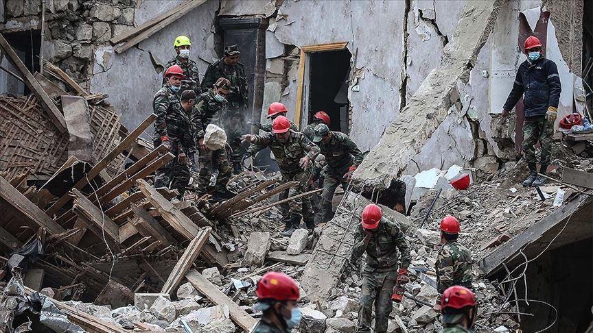 Ermenistan'da Azerbaycan'ın Gence kentine saldırı! 9 sivil hayatını kaybetti