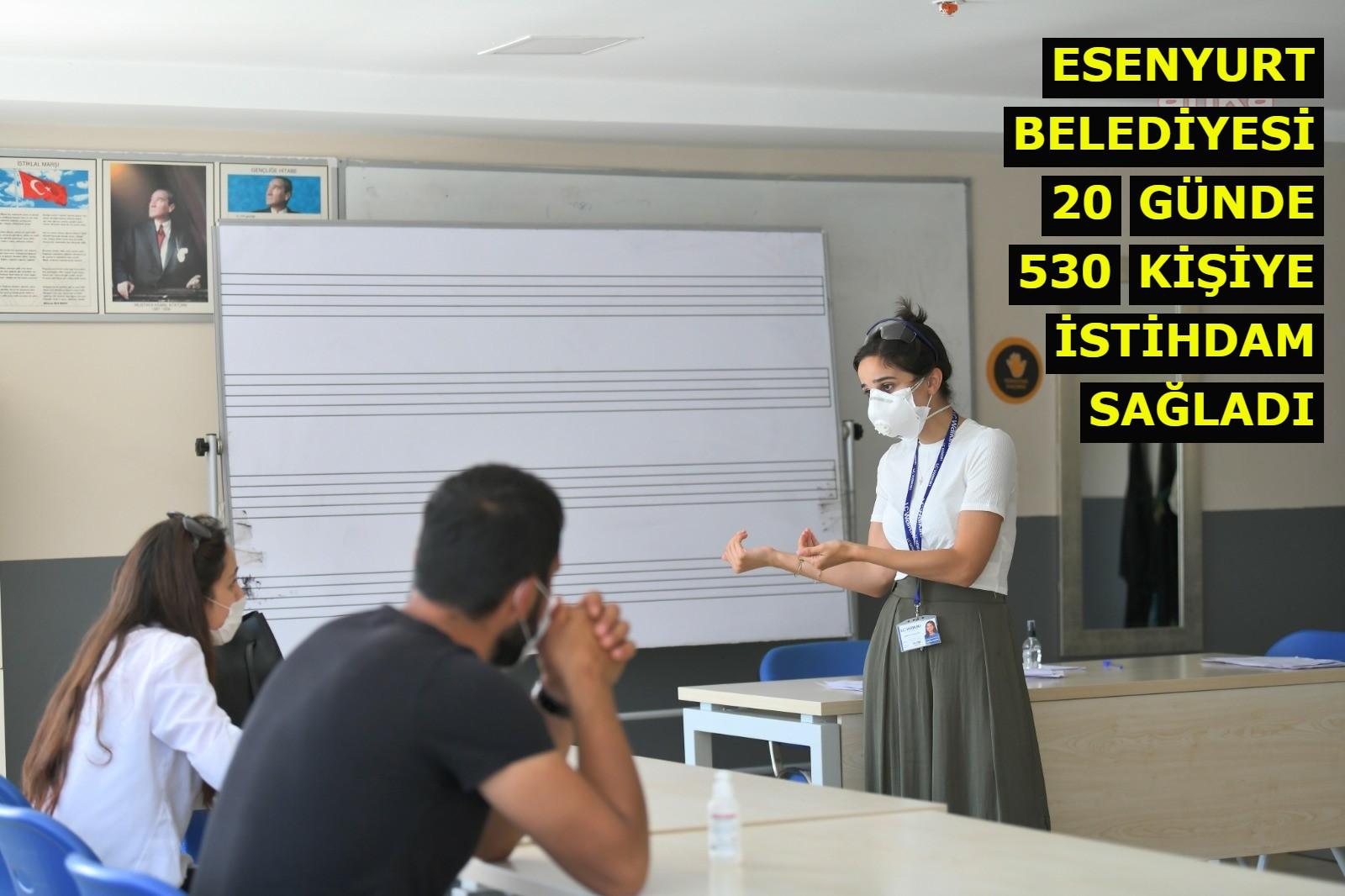 Esenyurt Belediyesi, 20 günde 530 kişiye istihdam sağladı