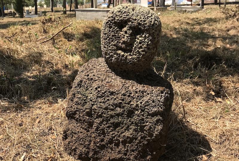 Eskişehir'de eski Türklere ait bir heykel bulundu