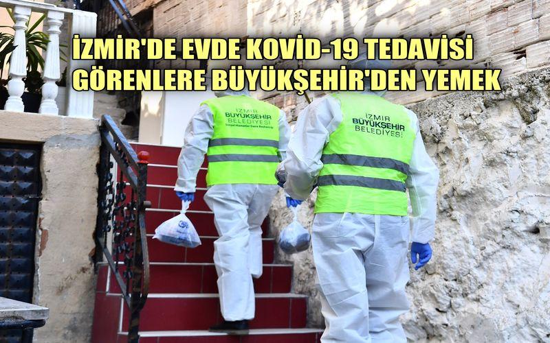 Evinde Kovid-19 tedavisi görenlere Büyükşehir'den yemek