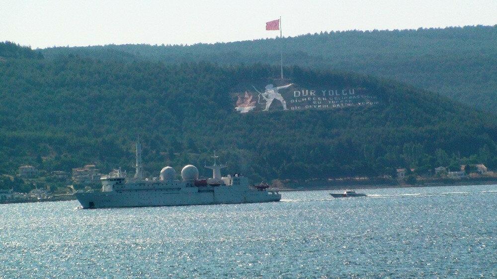 Fransız savaş gemisi, Çanakkale Boğazı'nda