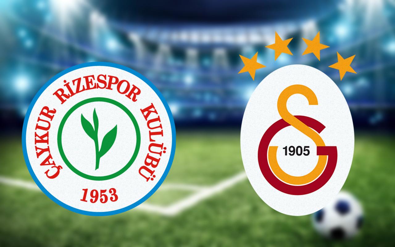 Galatasaray puanı Rize'de bıraktı: 2- 0