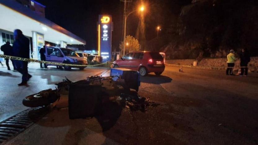 Gümüşhane'deki kazada motokurye yaşamını yitirdi