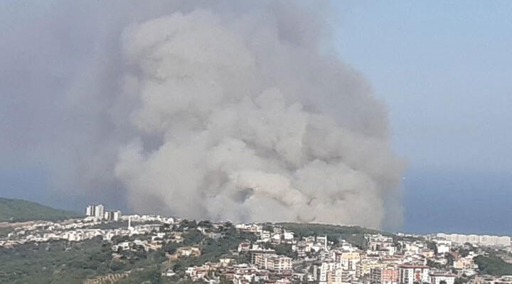 Hatay'da çıkan orman yangını yerleşim yerlerine yaklaştı