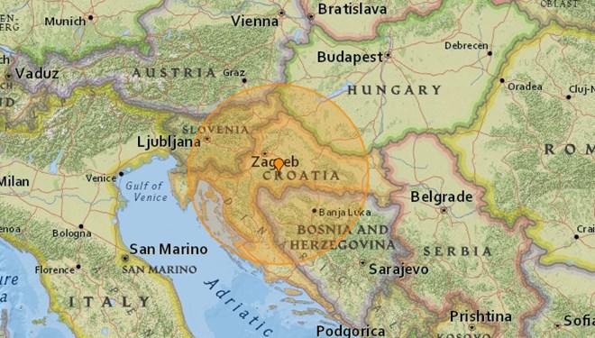 Hırvatistan'da 6,4 büyüklüğünde deprem