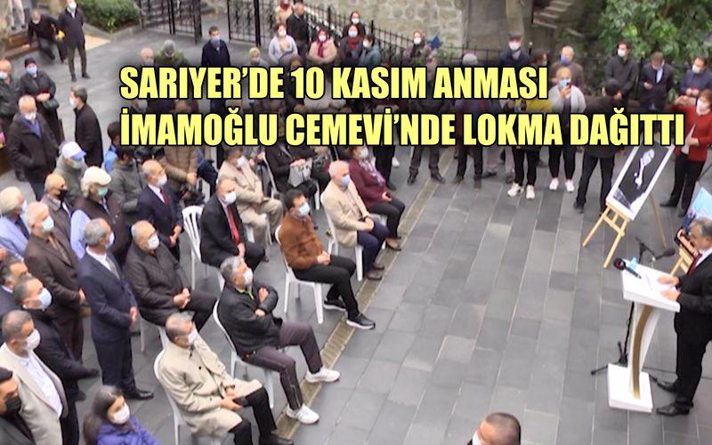 İmamoğlu 10 Kasım'da Sarıyer Cemevi'nde lokma dağıttı