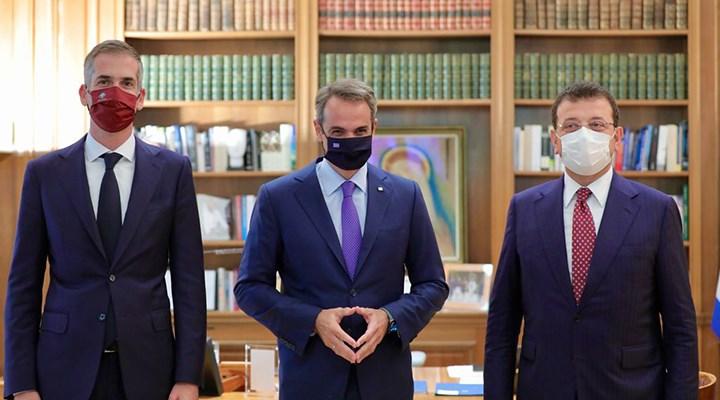İmamoğlu, Atina'da Yunanistan Başbakanı Miçotakis ile bir araya geldi