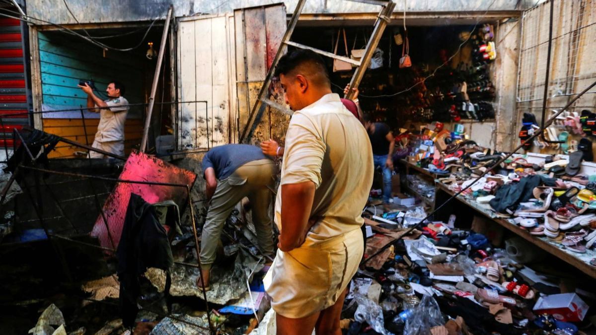 Irak'ta pazar yerinde bombalı saldırı: En az 35 ölü, onlarca yaralı