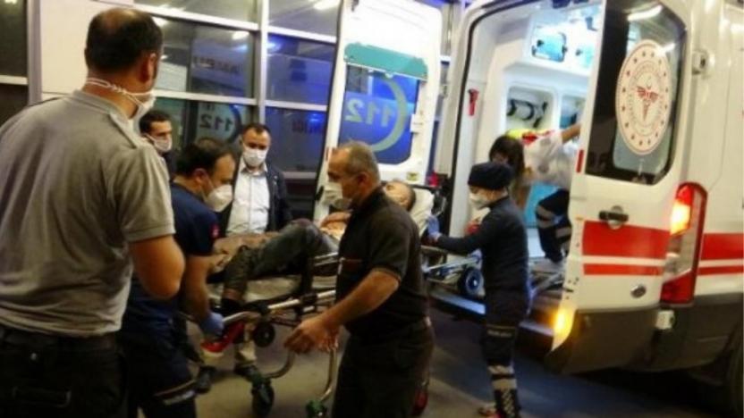 İşçi servisi devrildi: 2'si ağır 14 işçi yaralı