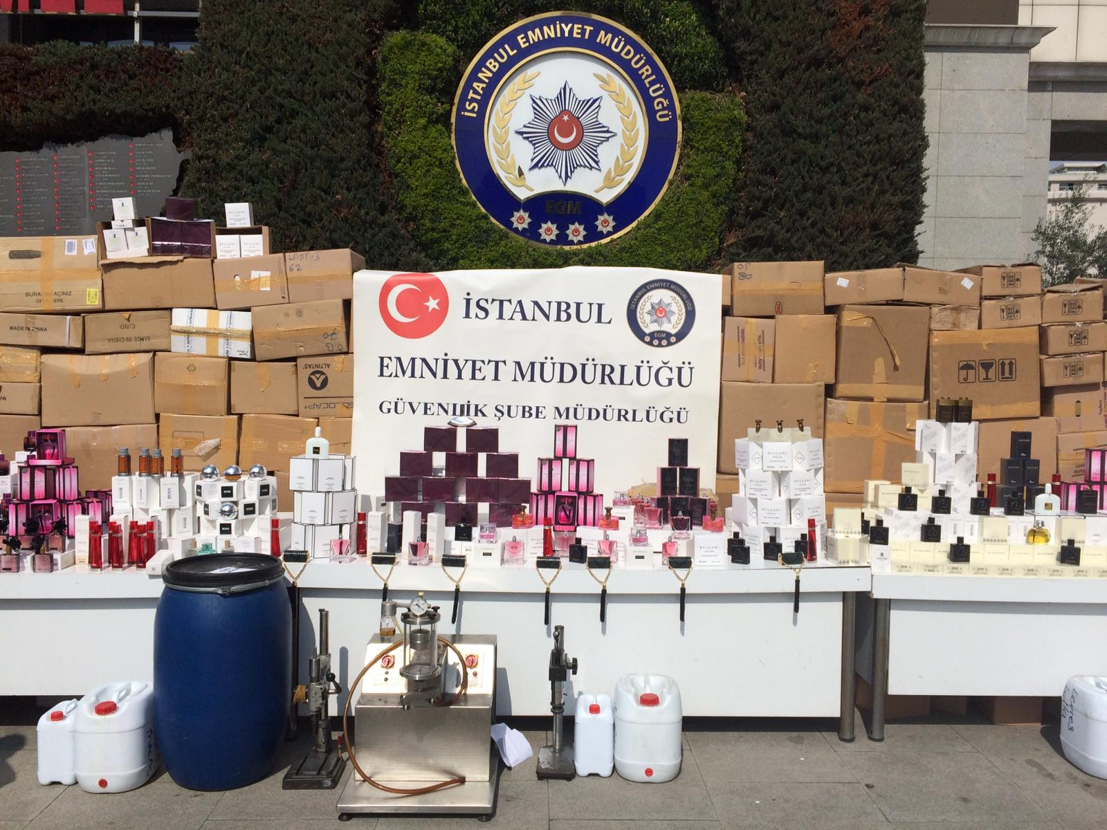İstanbul'da 18 milyon liralık sahte parfüm ele geçirildi