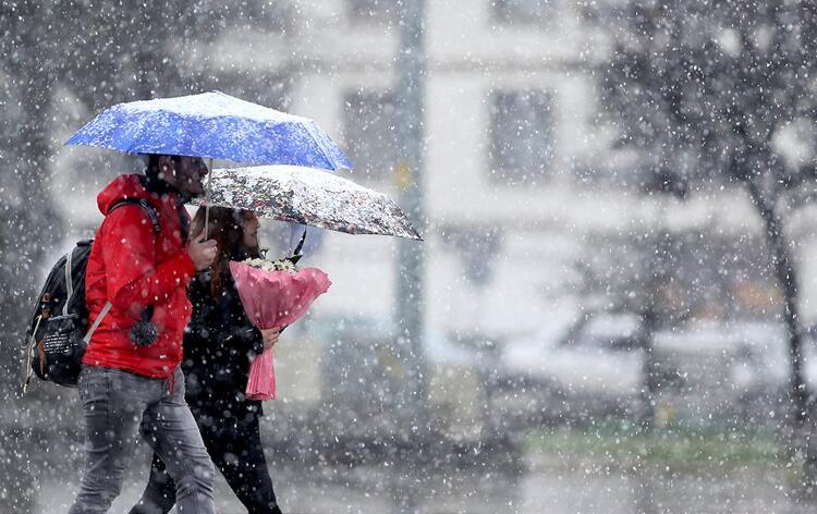 İstanbul'da kar yağışı, yerini yağmura bırakacak