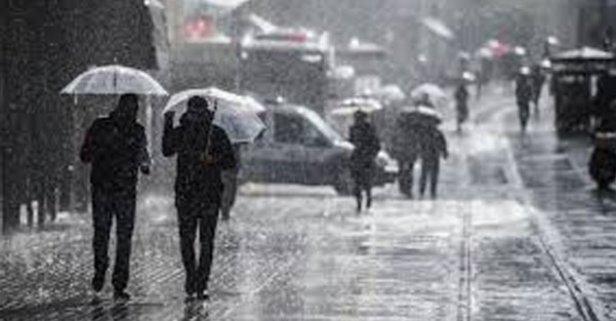 İstanbul'da sıcaklık düştü, kuvvetli yerel yağışlara dikkat
