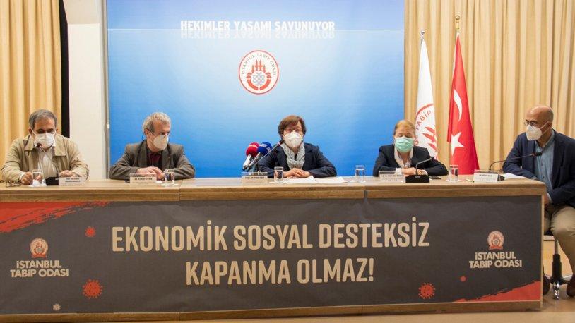 İstanbul Tabip Odası: Ekonomik desteksiz tam kapanma olmaz