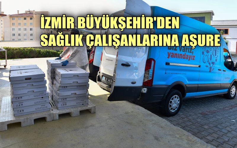 İzmir Büyükşehir'den sağlık çalışanlarına aşure