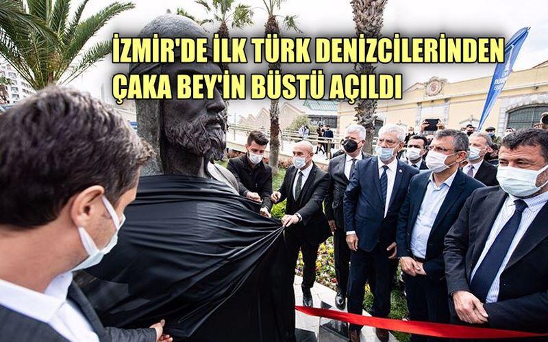 İzmir'de ilk Türk denizcilerinden Çaka Bey'in büstü açıldı