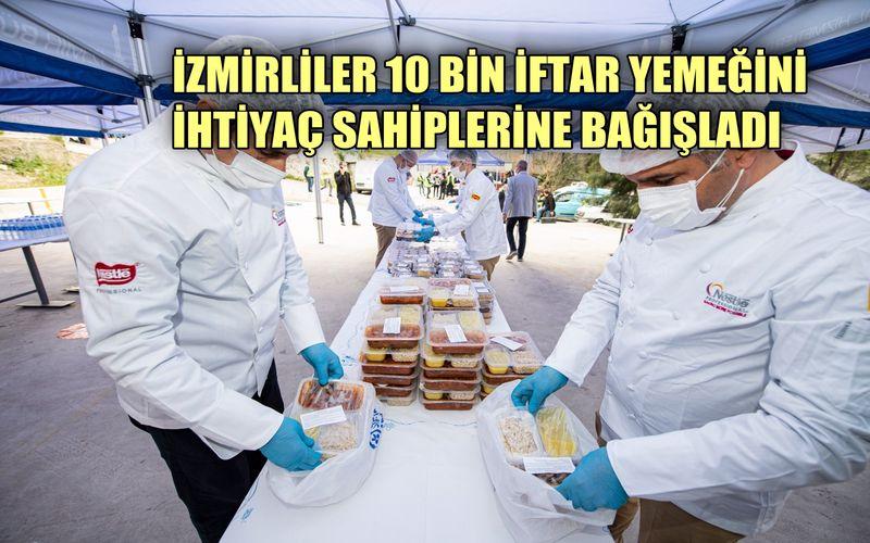 İzmirliler bir haftada 10 bin iftar yemeğini ihtiyaç sahiplerine bağışladı