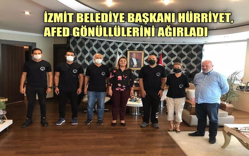 İzmit Belediye Başkanı Hürriyet, afet gönüllülerini ağırladı