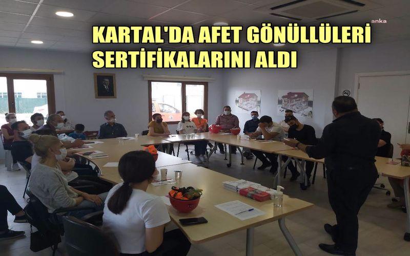 Kartal Belediyesi afet gönüllülerine sertifikalarını dağıttı