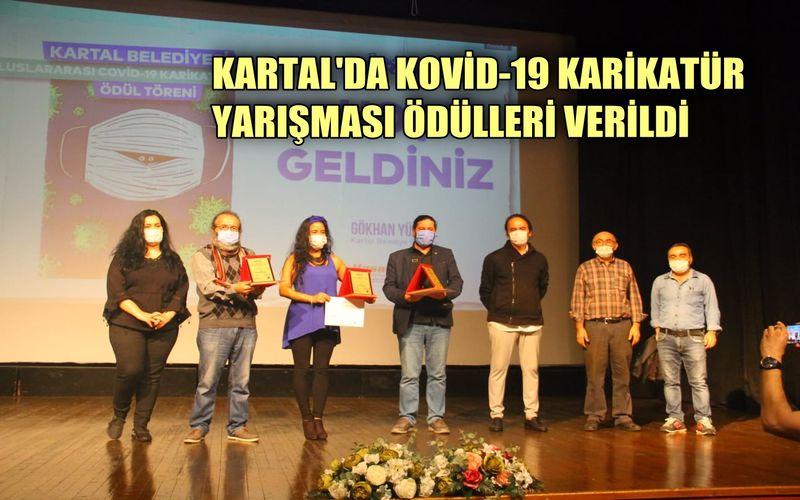 Kartal'da Kovid-19 Karikatür Yarışmasının ödülleri sahiplerini buldu