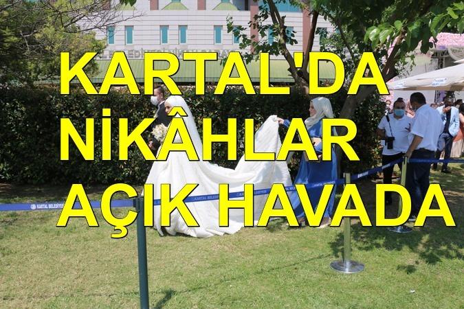 Kartal'da nikahlar artık açık havada kıyılıyor