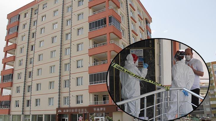 Kayseri'de 32 daireli bina karantinaya alındı