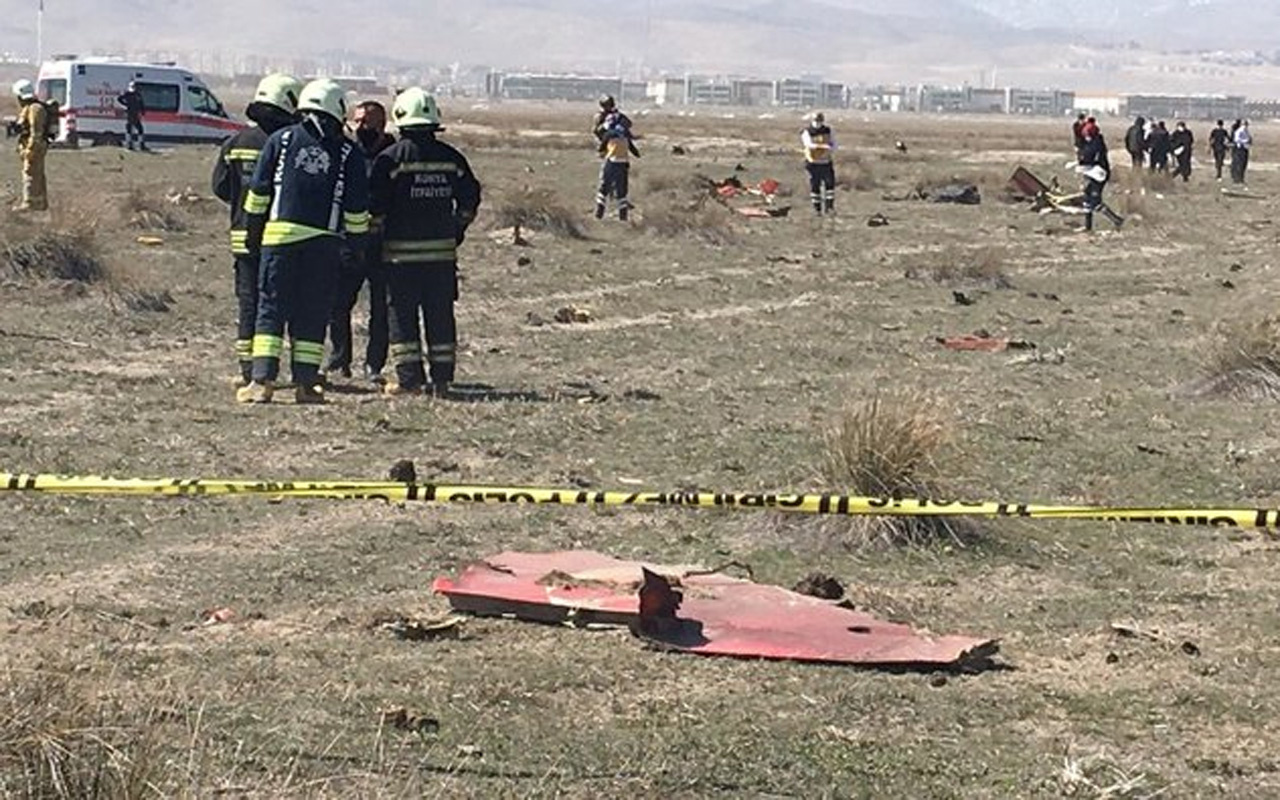 Konya'da askeri eğitim uçağı düştü: Pilot şehit oldu