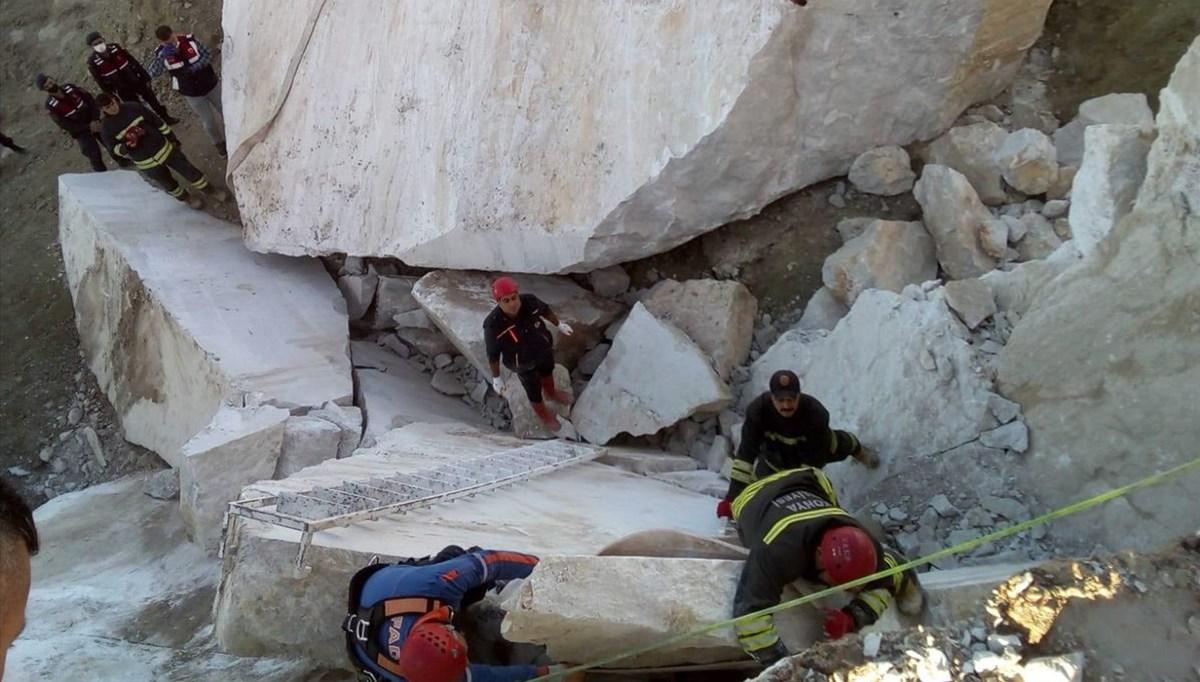 Konya'da maden ocağında iki kayanın arasına sıkışan kişi öldü