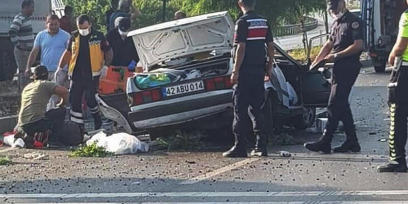 Konya'da otomobil, takla attı: 3 ölü, 2 yaralı!
