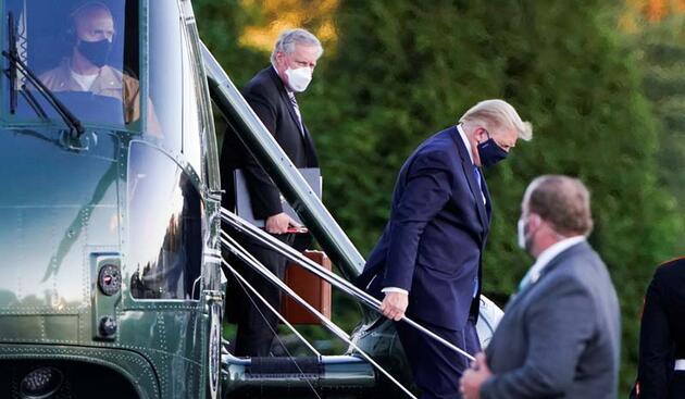 Koronavirüse yakalanan ABD Başkanı Donald Trump hastaneye kaldırıldı