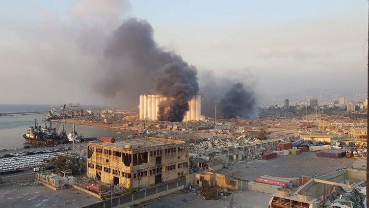 Lübnan'ın başkenti Beyrut'ta patlamada 70 ölü, 3 binin üzerinde yaralı