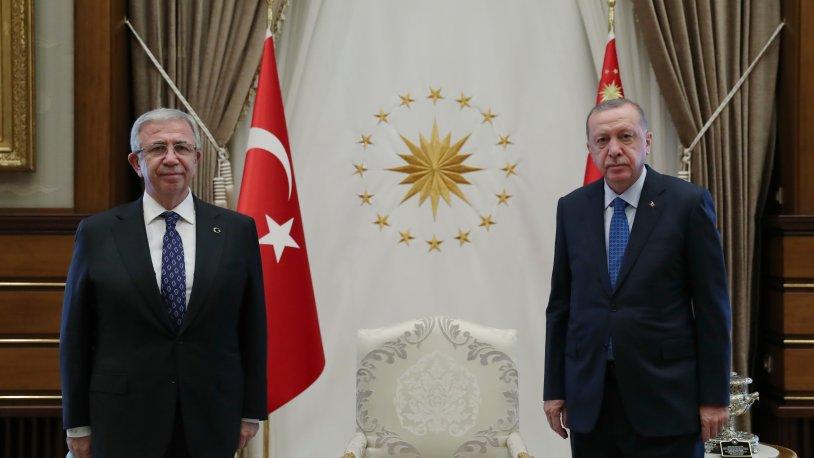 Mansur Yavaş ile Erdoğan'ın görüşmesinden ilk görüntü