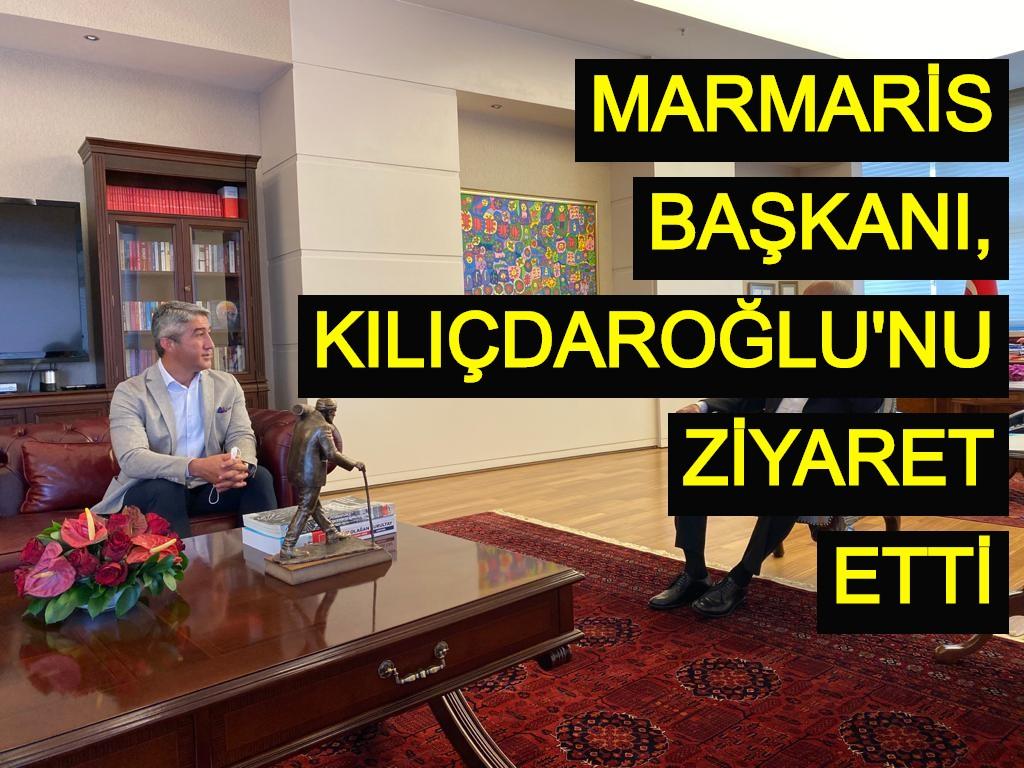 Marmaris Başkanı, Kılıçdaroğlu'nu ziyaret etti