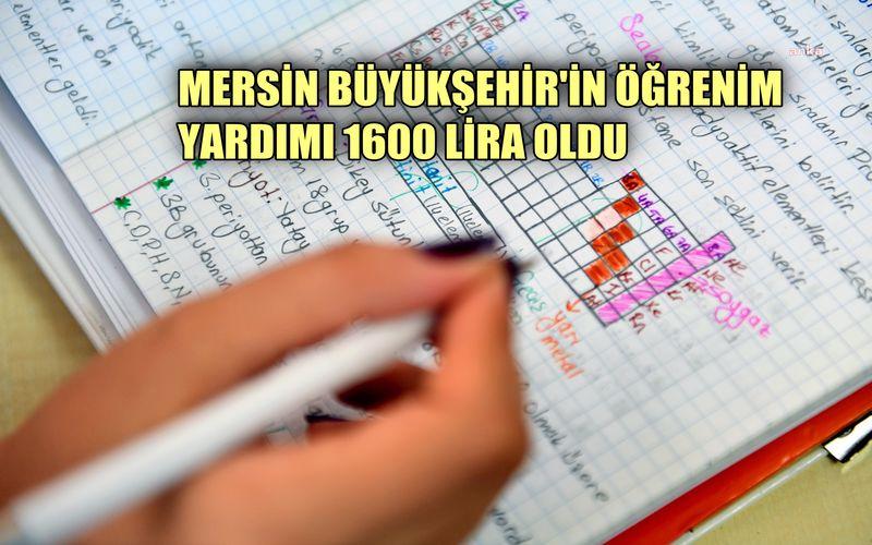 Mersin Büyükşehir'in öğrenim yardımı 1600 oldu, başvurular başladı