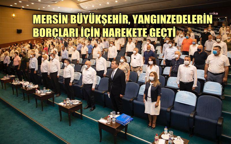 Mersin Büyükşehir, yangınzedelerin su borçları için harekete geçti