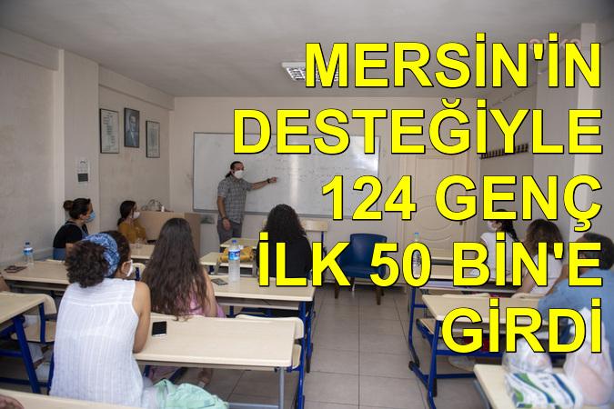 Mersin'in desteğiyle 124 genç ilk 50 bine girdi
