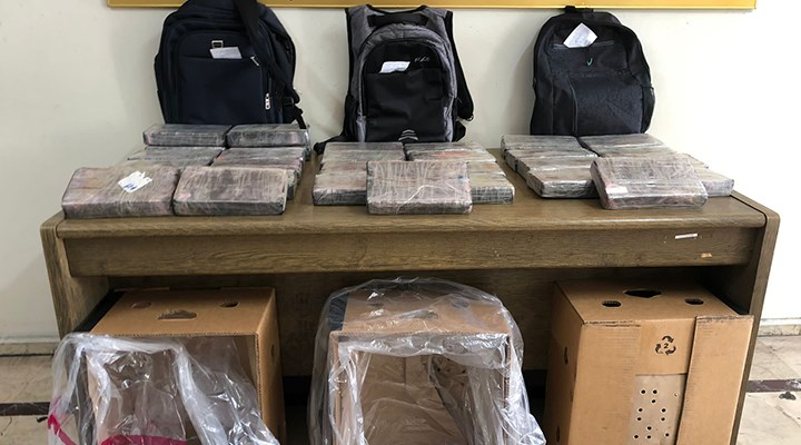 Mersin Limanı'nda 30 kilogram uyuşturucu ele geçirildi