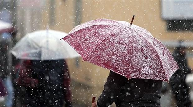 Meteoroloji'den iki bölge için sağanak ve kar uyarısı