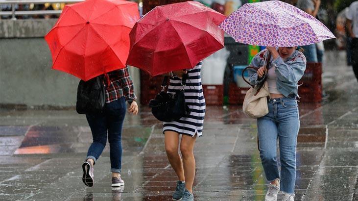 Meteoroloji'den İstanbul dahil 4 il için sağanak uyarısı