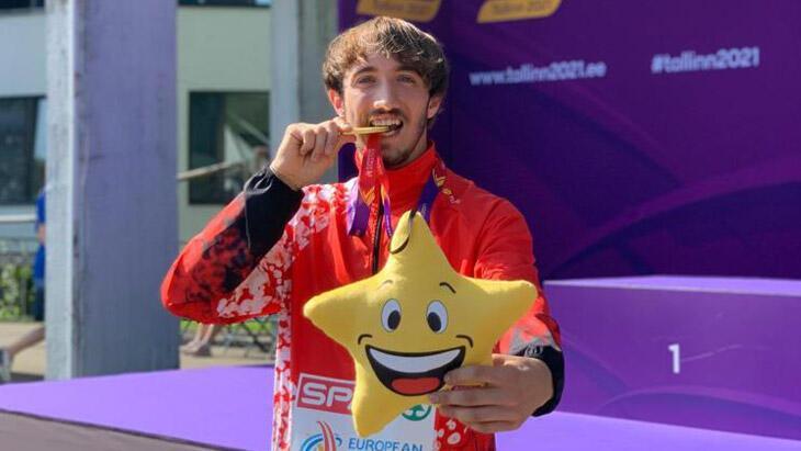 Milli atlet Berke Akçam altın madalya kazandı