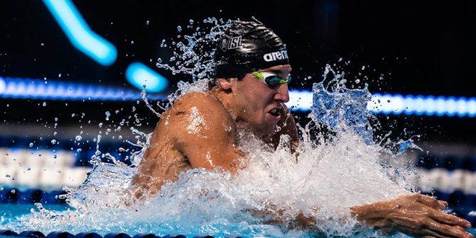 Milli yüzücü Emre Sakçı bir kez daha birinci oldu